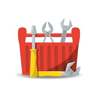 Werkzeugkasten, um service zu reparieren