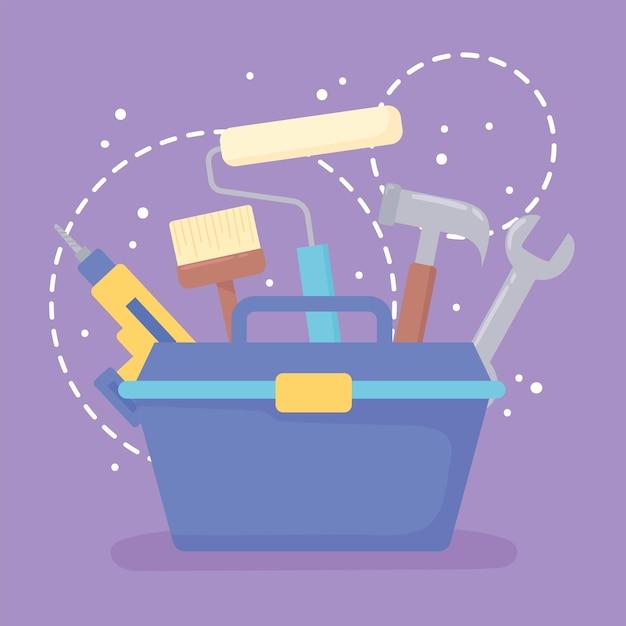 Werkzeugkasten und werkzeuge