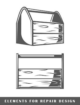 Werkzeugkasten vintage set
