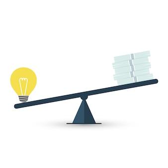 Wert der idee Premium Vektoren