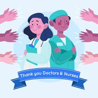 Wertschätzung von ärzten und krankenschwestern