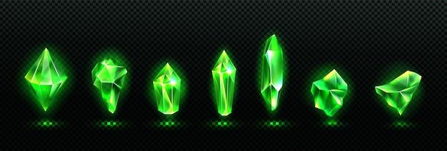 Wertvolle smaragdsteine gesetzt