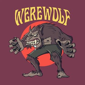 Werwolfcharakter für halloween