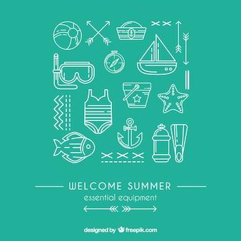Wesentliche ausrüstung für den sommer
