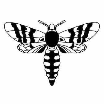 Wespe logo symbol schablone design tattoo vektor illustration
