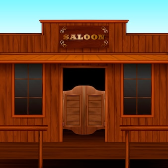 Western saloon entrance zusammensetzung
