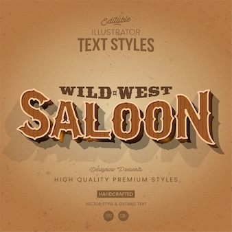 Western text style