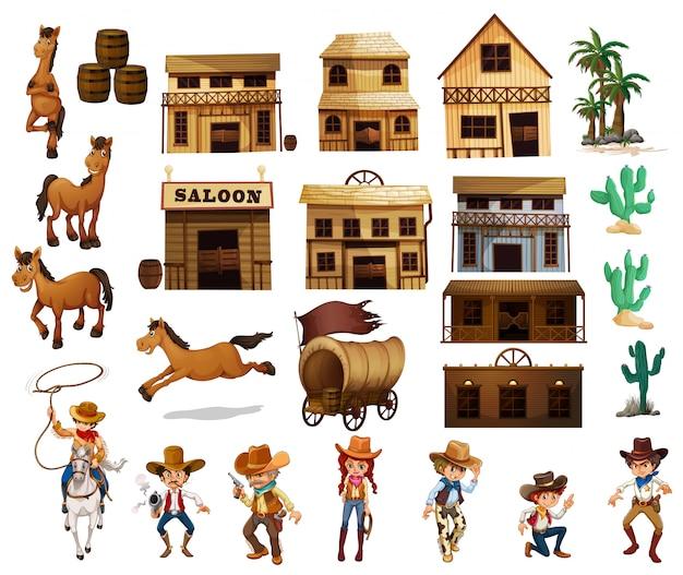 Westliche cowboys