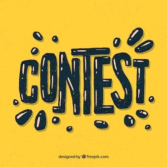 Wettbewerb schriftzug hintergrund