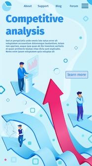 Wettbewerbsanalysen-flache vektor-illustration.