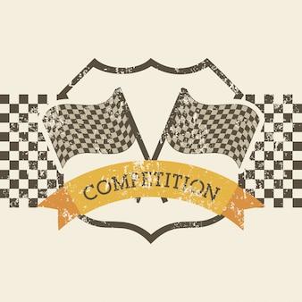 Wettbewerbsdesign über rosa hintergrundvektorillustration