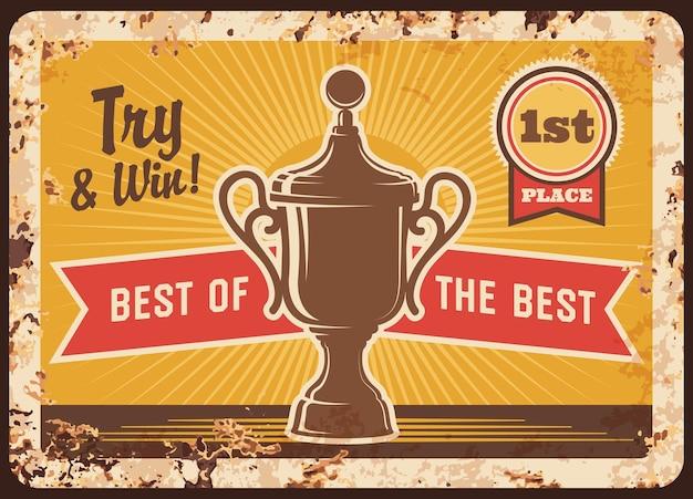 Wettbewerbssieger gewinner award rostige platte