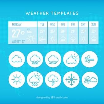 Wetter-app-vorlage mit symbolen