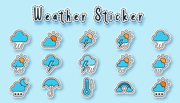 Wetter-aufkleber