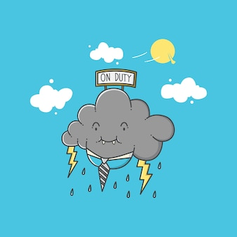 Wetter cartoon abbildung