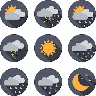 Wetter einfache ikone, flache illustration auf weißem hintergrund. design-label für website, internetseite und mobile anwendung.