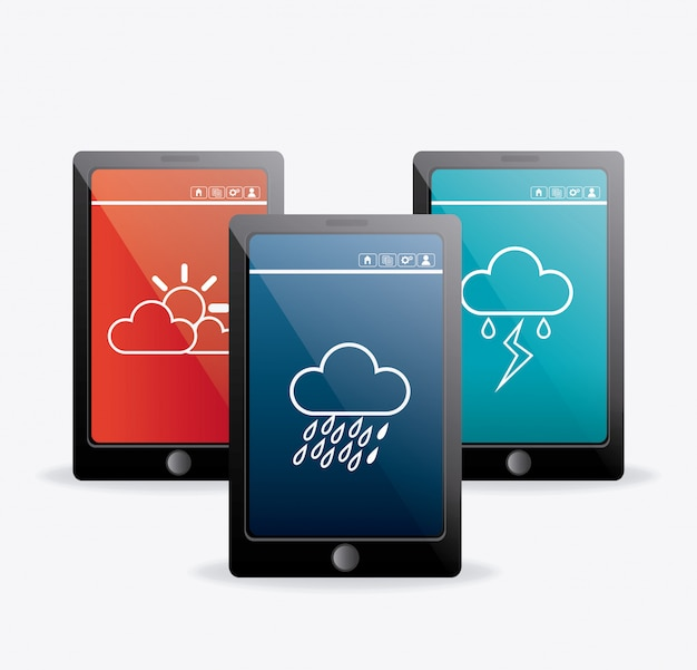 Wetter mobile app design.