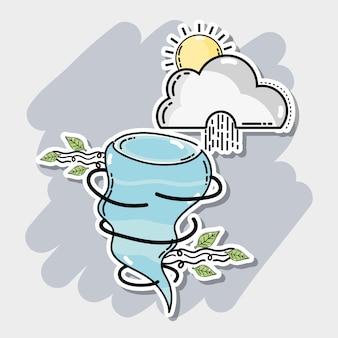 Wetter natürliche bedingungen mit verschiedenen temperaturen