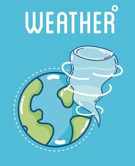 Wetter- und prognosevorlage mit elementen