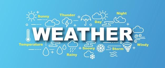 Wetter vektor banner