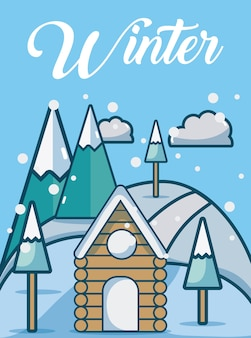 Wetter winterlandschaft süße karte