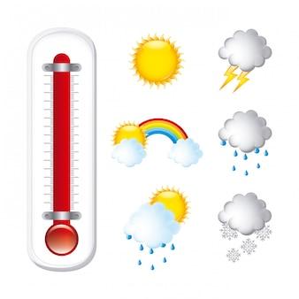 Wetterdesign über weißer hintergrundvektorillustration