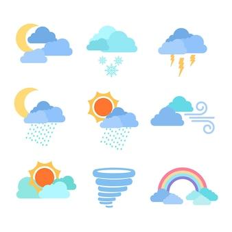 Wettereffekte im flachen design