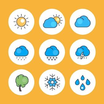 Wetterikonen eingestellt