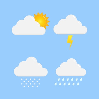 Wetterikonenvektordesign