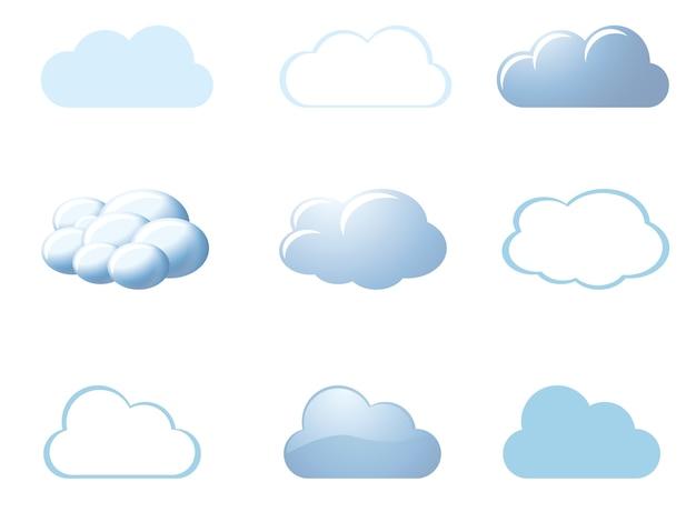 Wettersymbole - wolken