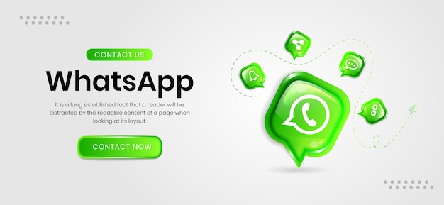 Whatsapp-banner für soziale medien