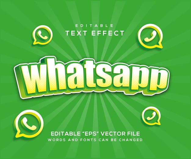 Whatsapp-texteffektstil