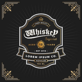 Whiskey-label-design