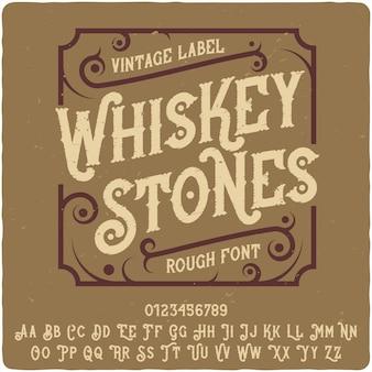 Whiskey stones vintage schriftzug