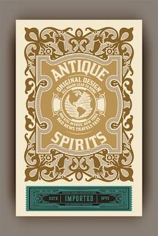 Whisky-etikett zum verpacken