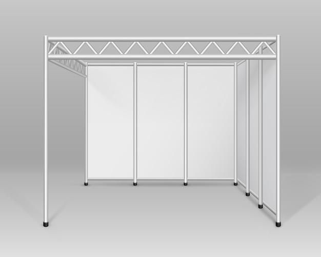 White blank indoor fachausstellung stand standard stand