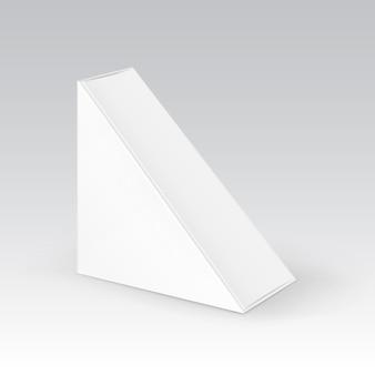 White blank karton dreieck take away box verpackung für sandwich