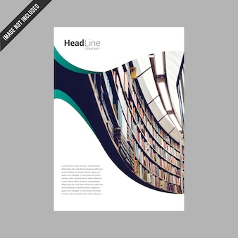 White business broschüre design