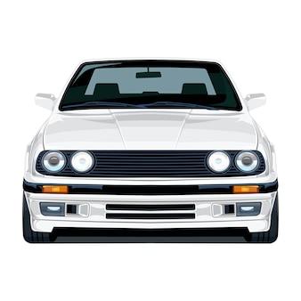 White car 80er frontwinkel
