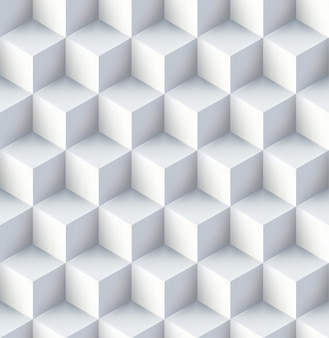 White cubes seamless pattern design