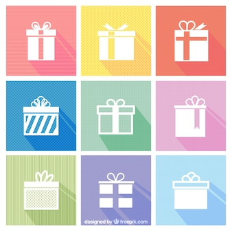 White geschenk-icons