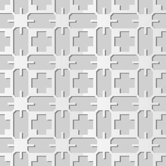 White paper art geometry cross polygon frame, stilvoller dekorationsmusterhintergrund für web-banner-grußkarte