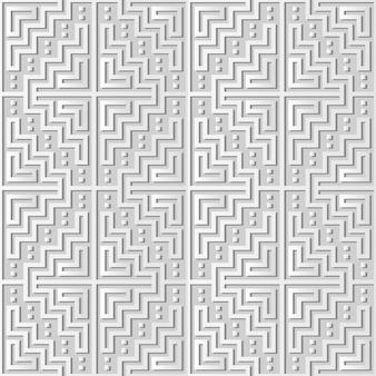 White paper art mosaik pixel square geometry cross frame, stilvoller dekorationsmuster hintergrund für web-banner-grußkarte