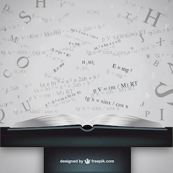 Whiteboard-formel-vektor-vorlage