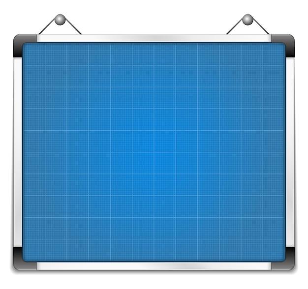 Whiteboard mit blaupause, illustration