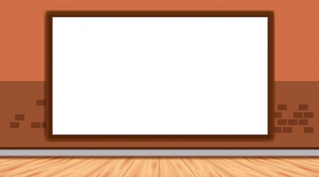 Whiteboard-vorlage auf brickwall