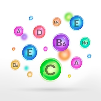 Wichtiger zoom für vitamin- und mineralkomplexe