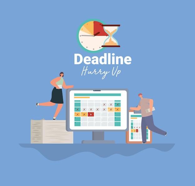 Wichtiges deadline-poster