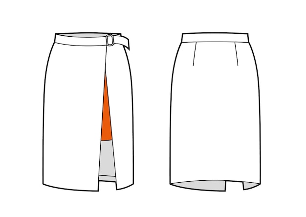 Wickel-bleistiftrock mit gürteldetails