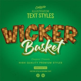 Wicker-textstil